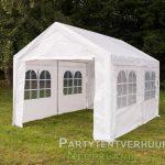 Partytent 3x4 meter zijkant huren - Partytentverhuur Utrecht