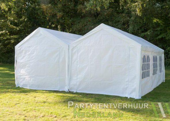 Partytent 6x6 meter achterkant huren - Partytentverhuur Utrecht