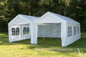 Partytent 6x6 meter voorkant huren - Partytentverhuur Utrecht