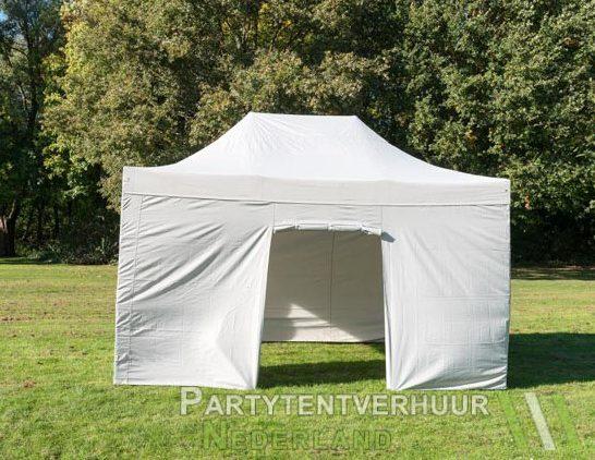 Easy up tent 3x4,5 meter voorkant huren - Partytentverhuur Utrecht