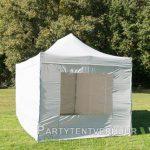 Easy up tent 3x4,5 meter voorkant schuin huren - Partytentverhuur Utrecht