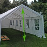 partytent hoogte