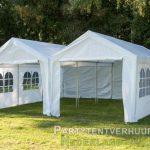 Partytent 6x6 meter voorkant huren - Partytentverhuur Partytent 3x6 meter voorkant met deur huren - Partytentverhuur Utrecht