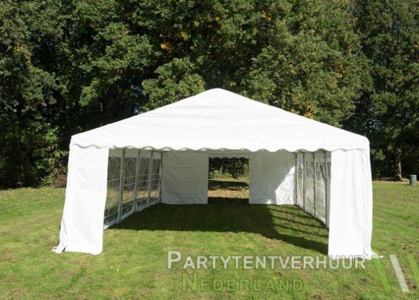Partytent 5x10 meter voorkant huren - Partytentverhuur Utrecht