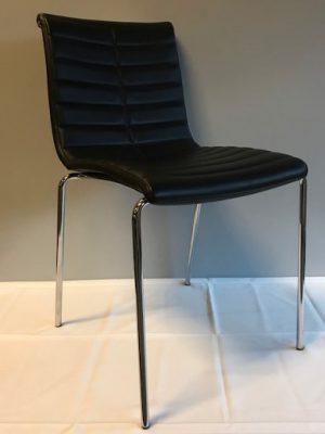Zwarte stoel van leer